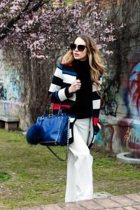 sisley stripes coat