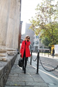 trench rosso dolce gabbana