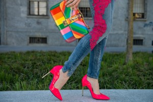 fucsia shoes loriblu