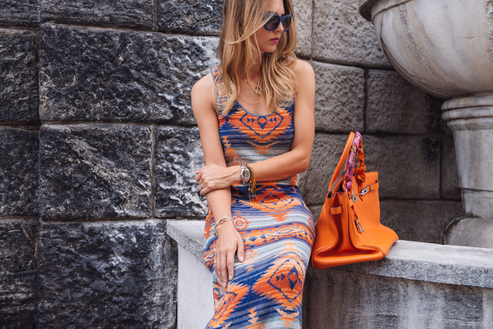 Summer Orange Dress