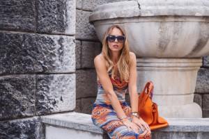 orange dress summer 2016