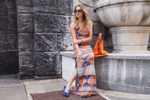 ralph lauren long orange dress summer 2016