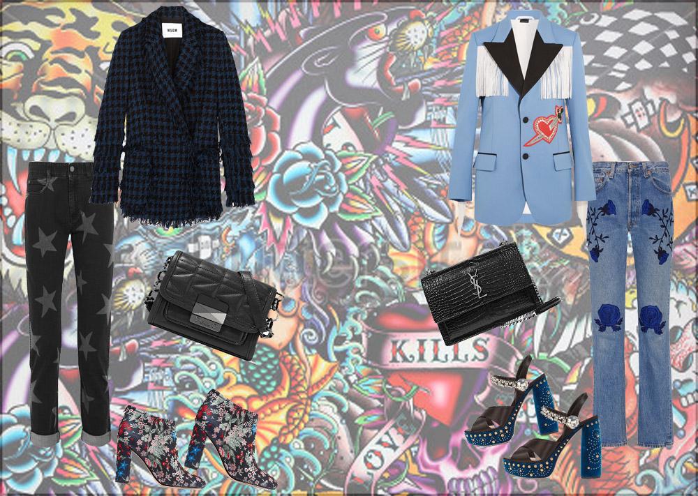 Jeans Tatuati- La moda dell'autunno 2016