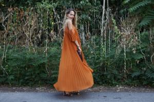 chloè dress rust