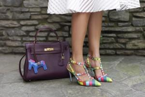 kelly bag purple 33 cm