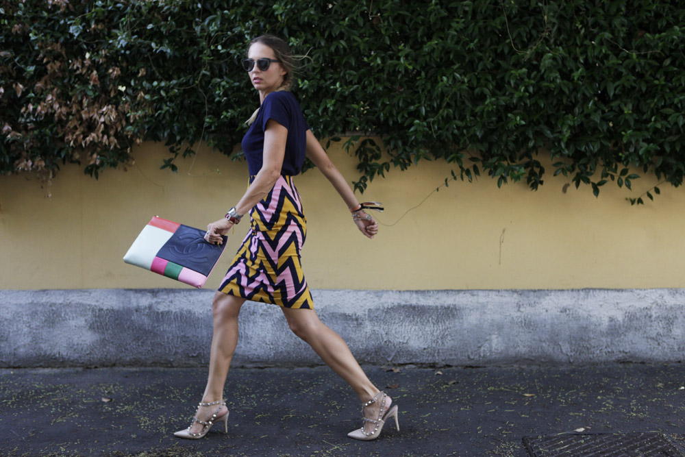 How to style a zig zag skirt