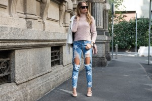 jeans struppati con stelle