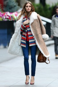 olivia palermo sheepskin jacket fall 2017