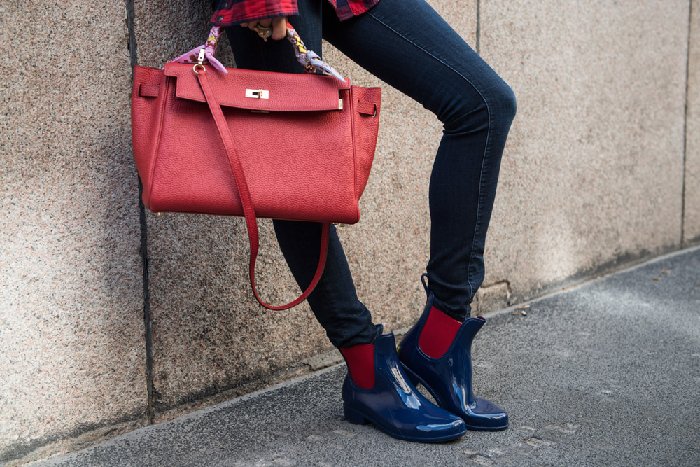 ralph lauren boots blue and red