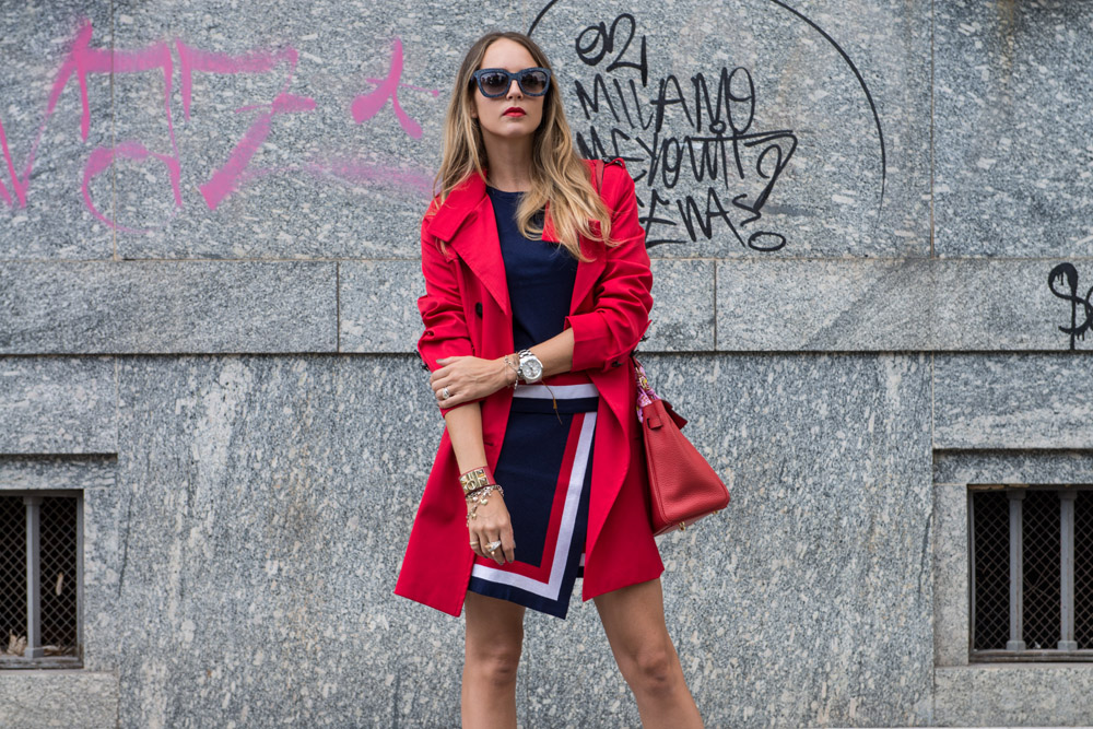 trench dolce gabbana rosso