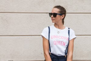 unicorn queen t-shirt viridì