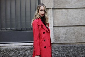 how to style a colorful look in winter