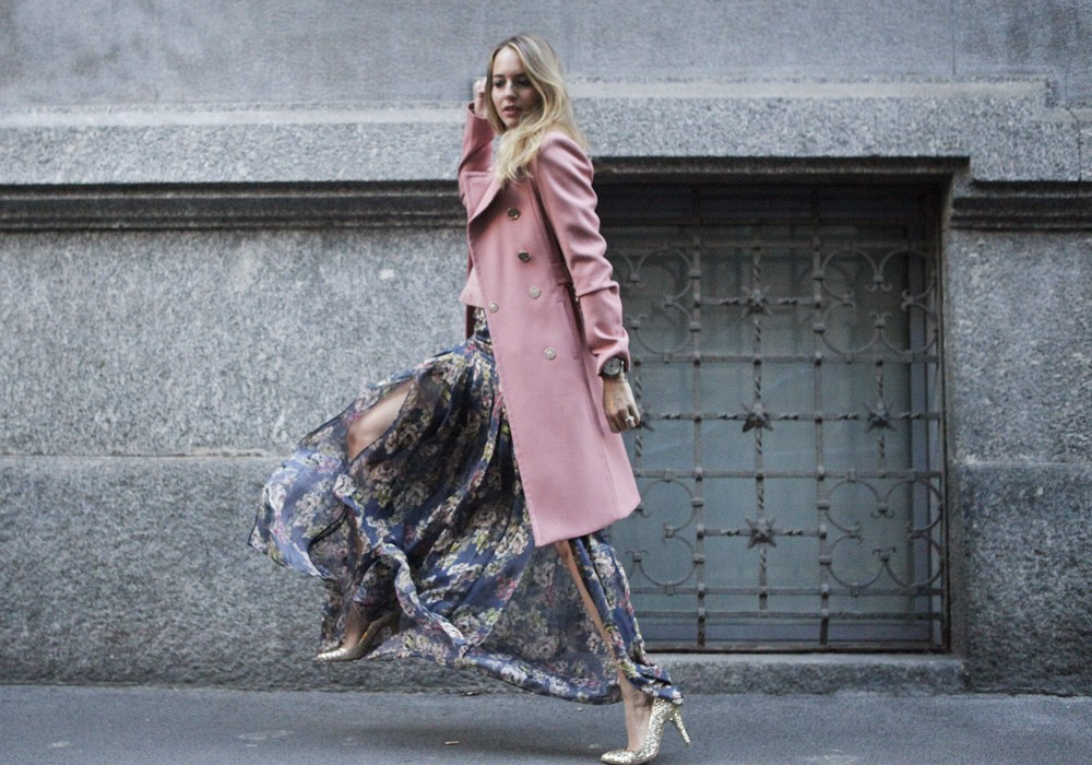 How to style a long skirt for winter