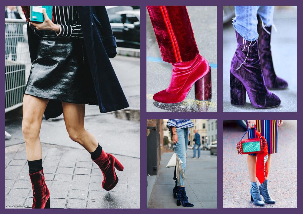 velvet purple boots