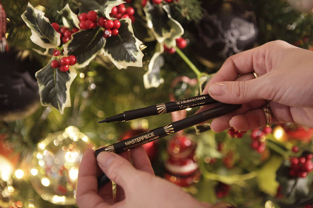 Max factor Masterpiece eyeliner christmas make-up