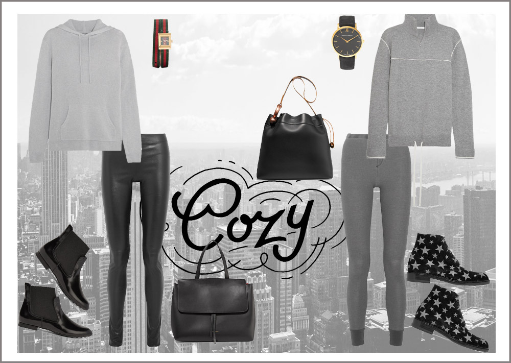 cozy fashion look