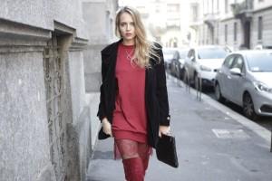 burgundy oversize sweater