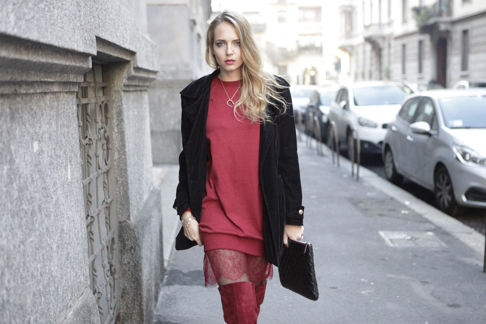 burgundy oversize sweater
