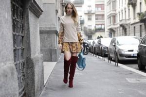 Hippie dress in winter