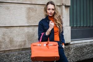 birkin arancio borsa