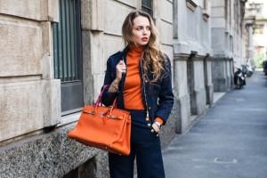 chanel pullover arancione