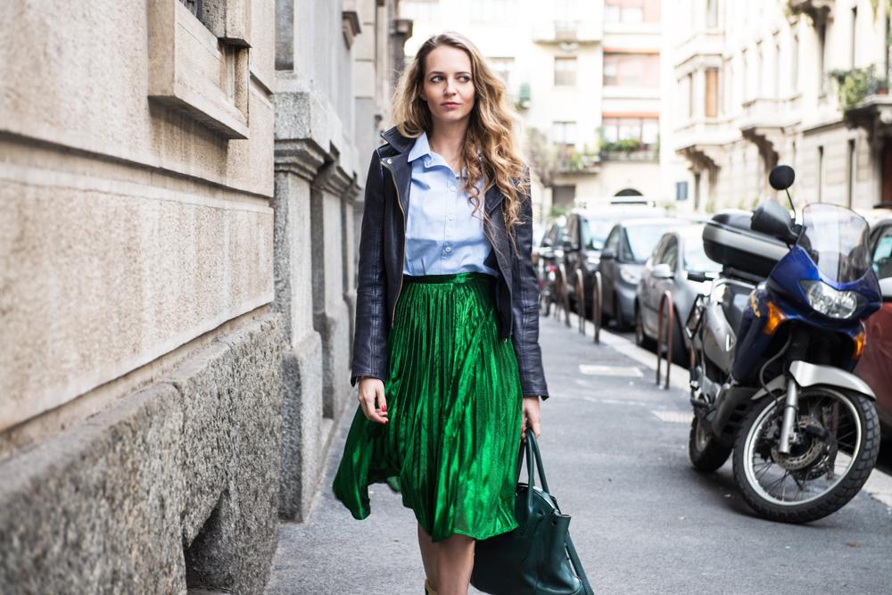 metallic skirt gucci