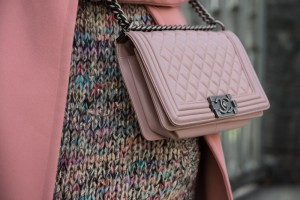 chanel boy light pink