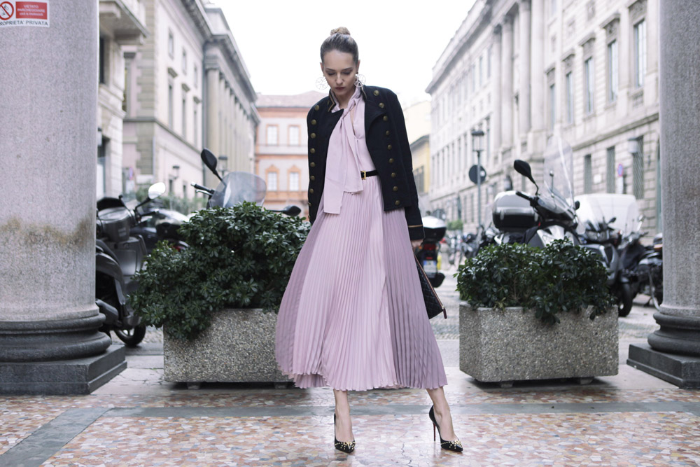 Pink Silk Dress for Spring