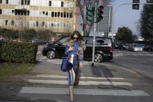 milan fashion week skirt stripes