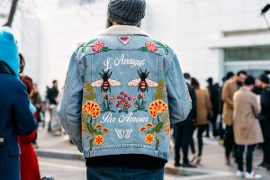 Paris-Fashion-Week-Streetstyle-by-The-Petticoat-Embroidery-Denim-Jacket-mens-after-Balenciaga-Show-Paris-PFW