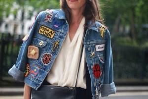 giacca jeans costumizzata