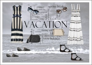 Black and white beachwear