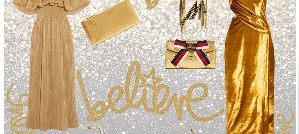 Believe in Gold metallic dress