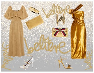 Believe in Gold metallic dress
